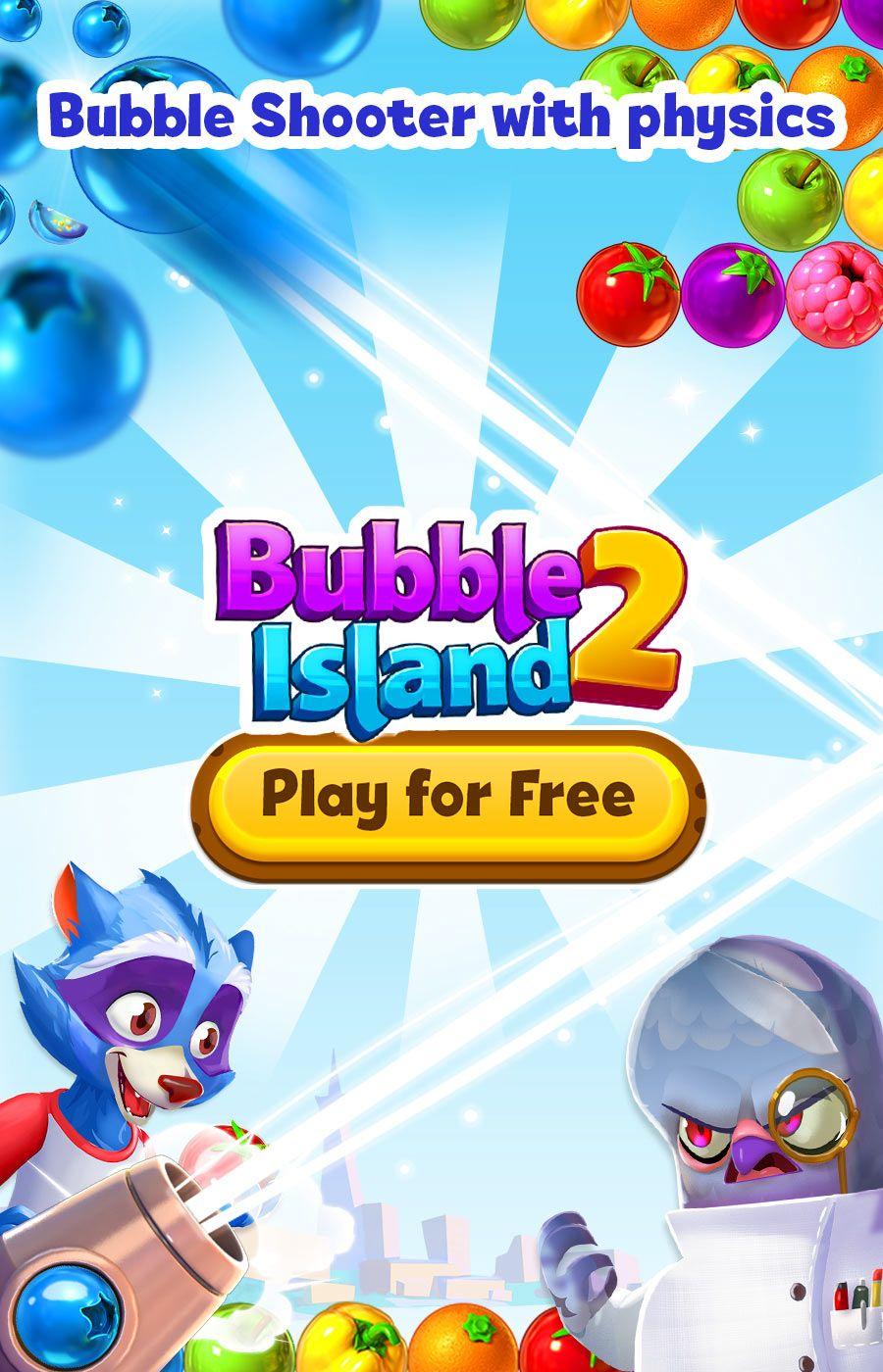Physics Based Fun! Play Bubble Island 2 Fruit Shooter on