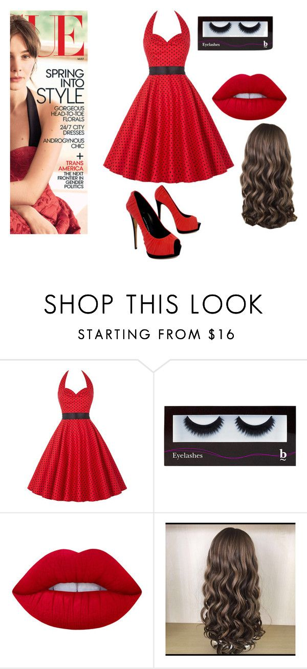 """Red review"" by christensmith2002 ❤ liked on Polyvore featuring BBrowBar, Lime Crime and Giuseppe Zanotti"