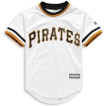 Pittsburgh Pirates Majestic Youth Official Cool Base Team Jersey - White 7a379faf5
