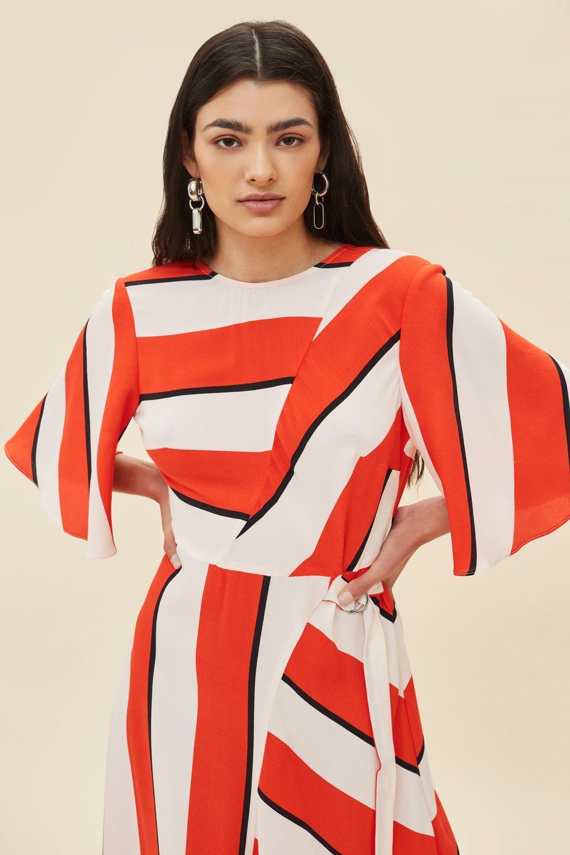 ad989f42da6 PETITE Diagonal Striped Midi Dress - New In Dresses - New In ...