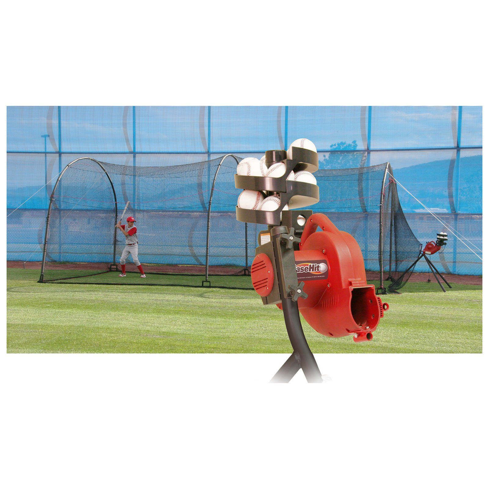 Heater Sports 24 Ft Basehit Pitching Machine Amp Xtender