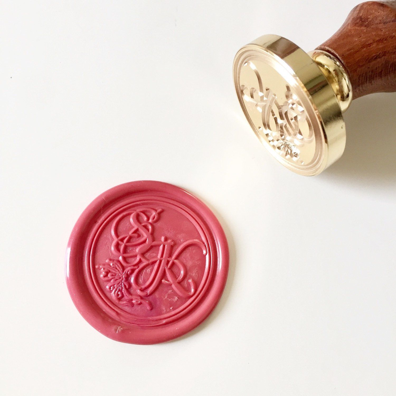 Calligraphy Wedding Wax Seal Stamp with initials | Wax seals ...