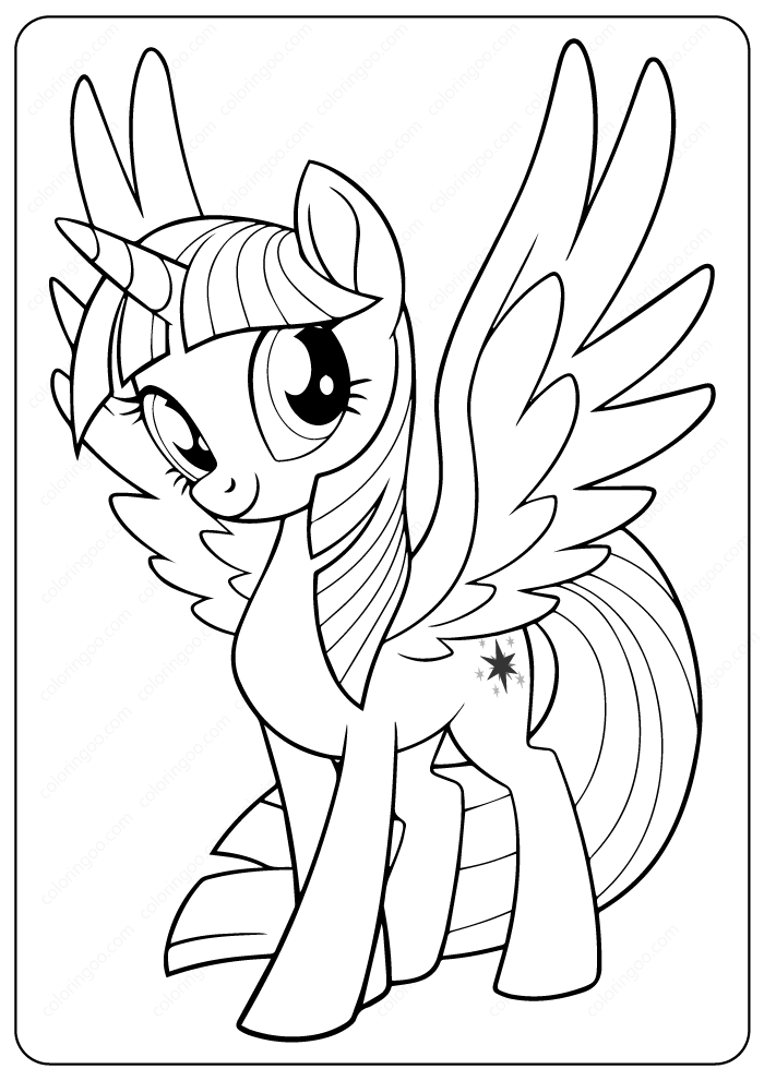 printable my pony twilight sparkle coloring pages