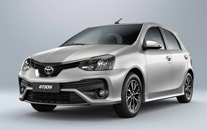 Download Wallpapers Toyota Etios K Studio  Cars Compact Cars