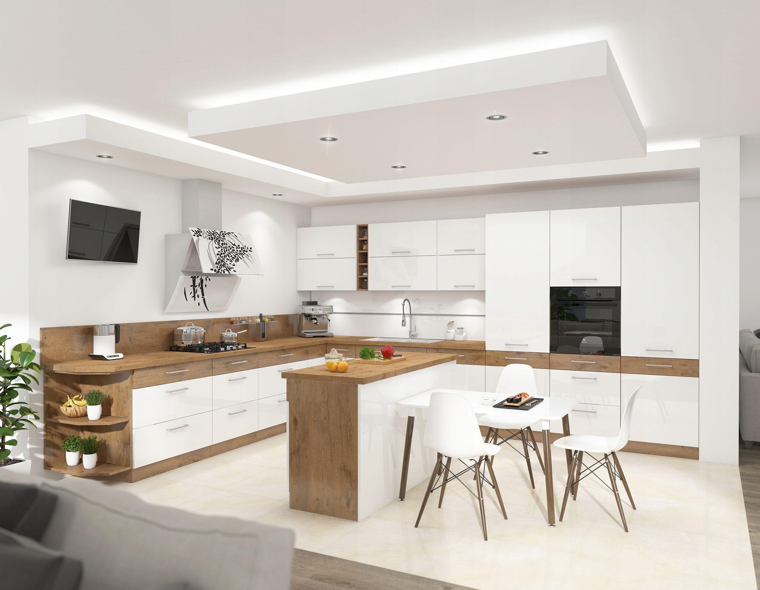 Meble Kuchenne Vario Iii Bialy Polysk Mdf Kuchnia Interior Design Kitchen Kitchen Interior Modern White Kitchen Cabinets