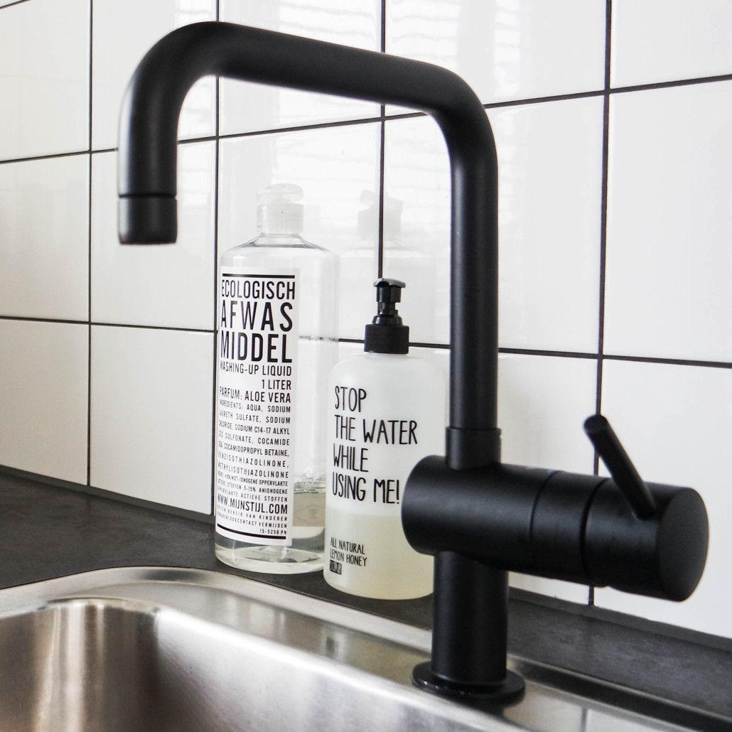 Grohe Zwarte Keukenkraan.Zwarte Kraan Grohe In 2019 Keuken Steigerhout Keuken