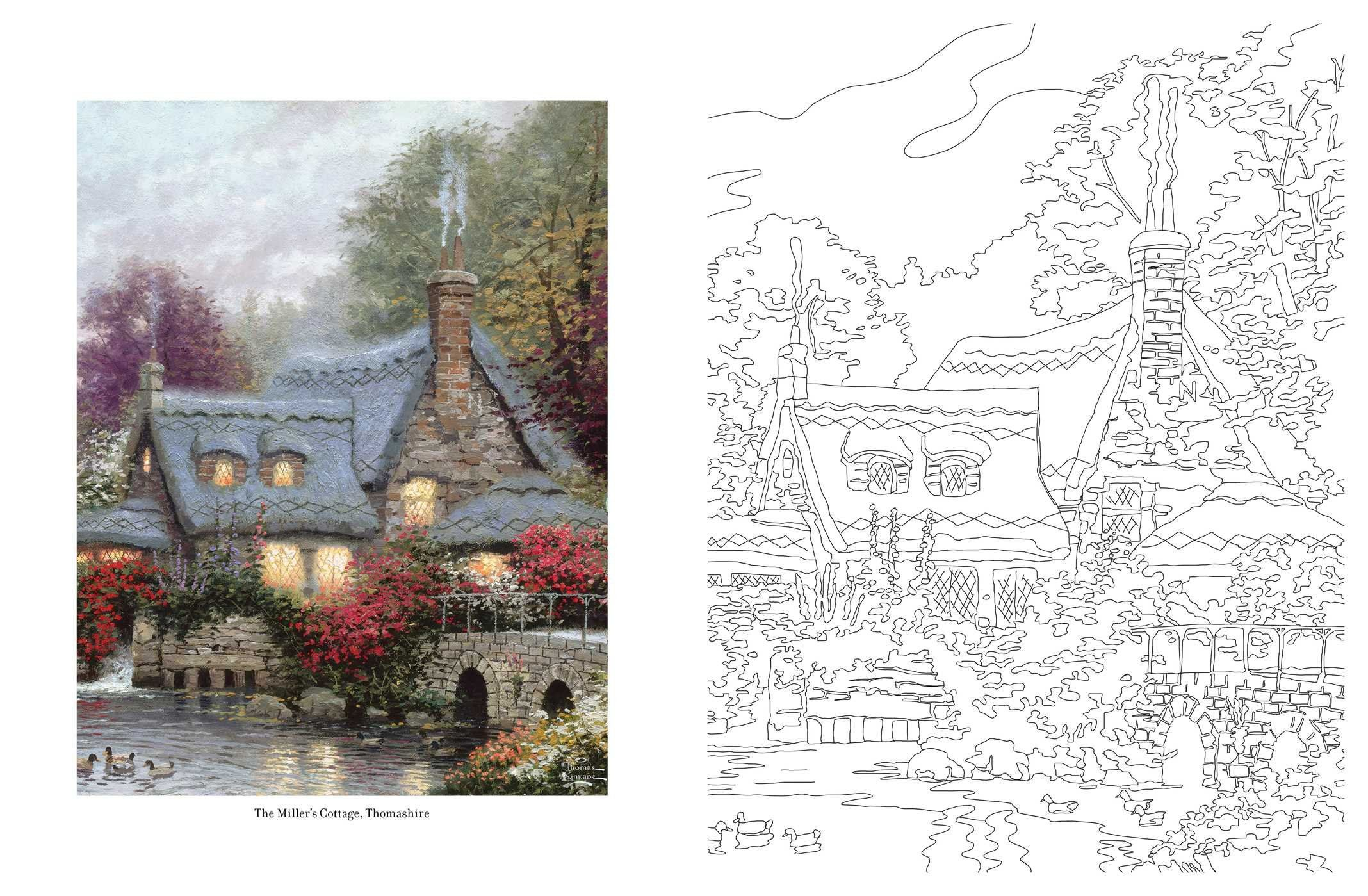 POSH ADULT COLOR BK THOMAS KIN (Posh Coloring Books): Amazon.de ...