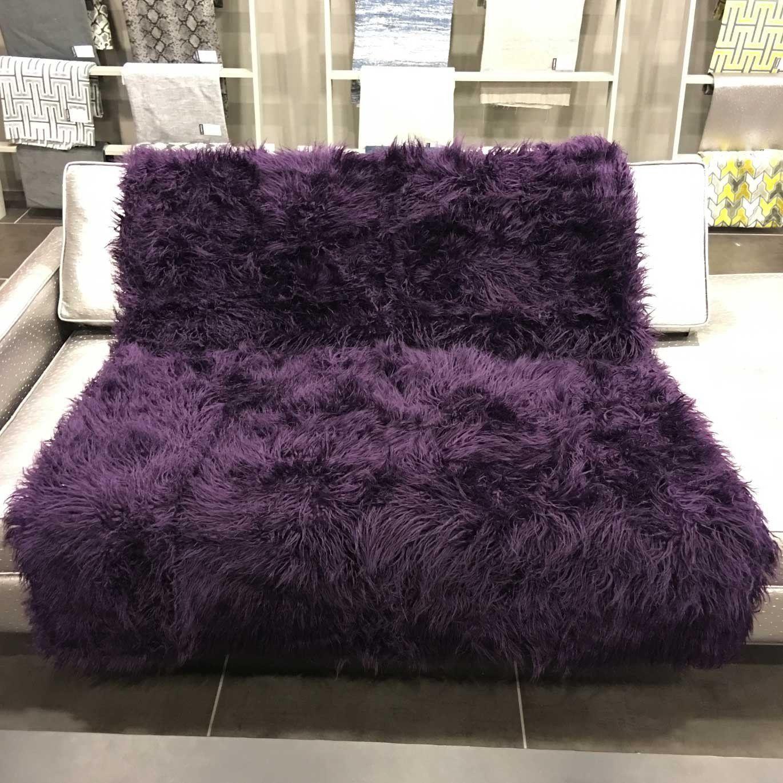 Gigi luxurious shaggy faux fur throw blanket available in