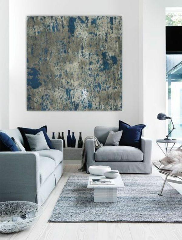 sch ne wandgestaltung mit einem gro en bild interieur design pinterest wohnzimmer. Black Bedroom Furniture Sets. Home Design Ideas
