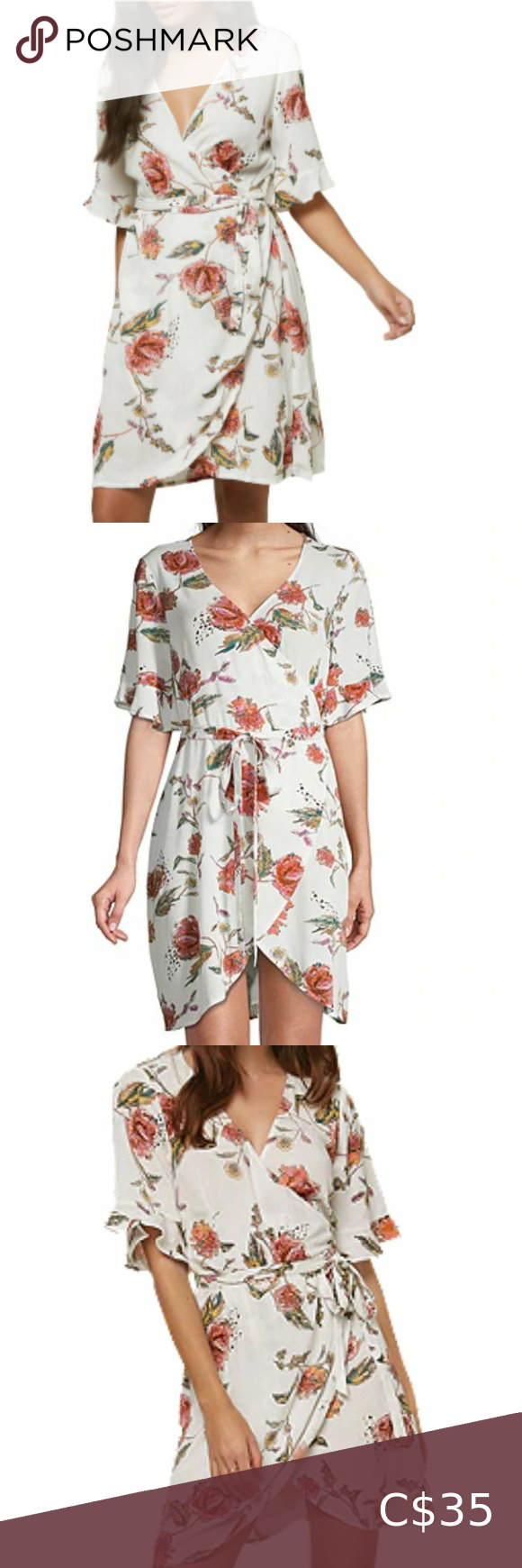 Short Sleeve Mini Wrap Dress Mini Wrap Dress Wrap Dress Fashion [ 2940 x 2100 Pixel ]