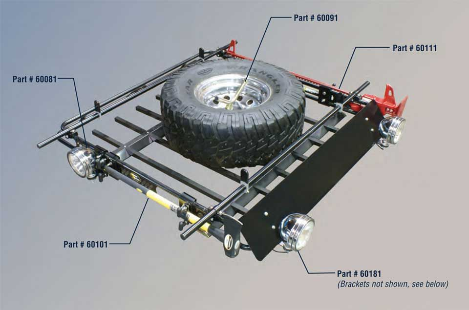 Kargo Master Jeep Safari Rack Accessories Roof Racks Brackets Jeep Jeep Wj Jeep Camping