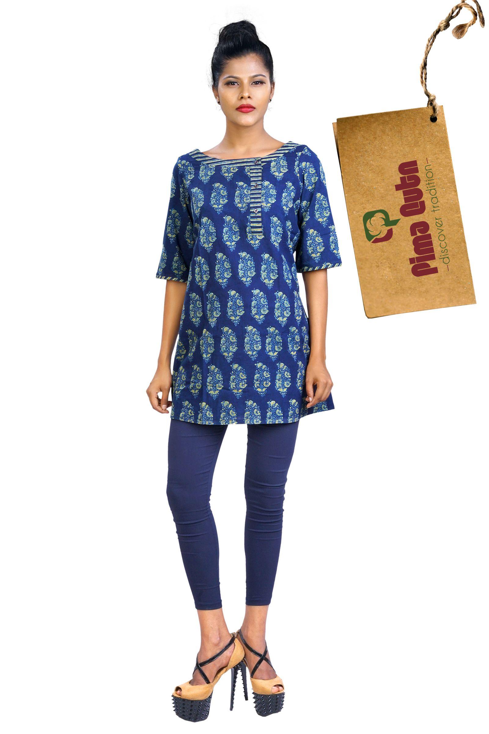 e357ee931666 Block Printed Short Kurti | Cotton Short Tops | Indian designer wear ...