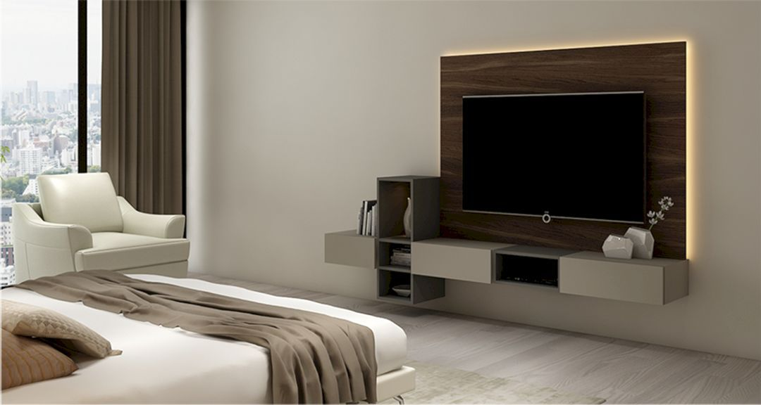 17 Incredible Bedroom With TV Wall Design And Decor Ideas