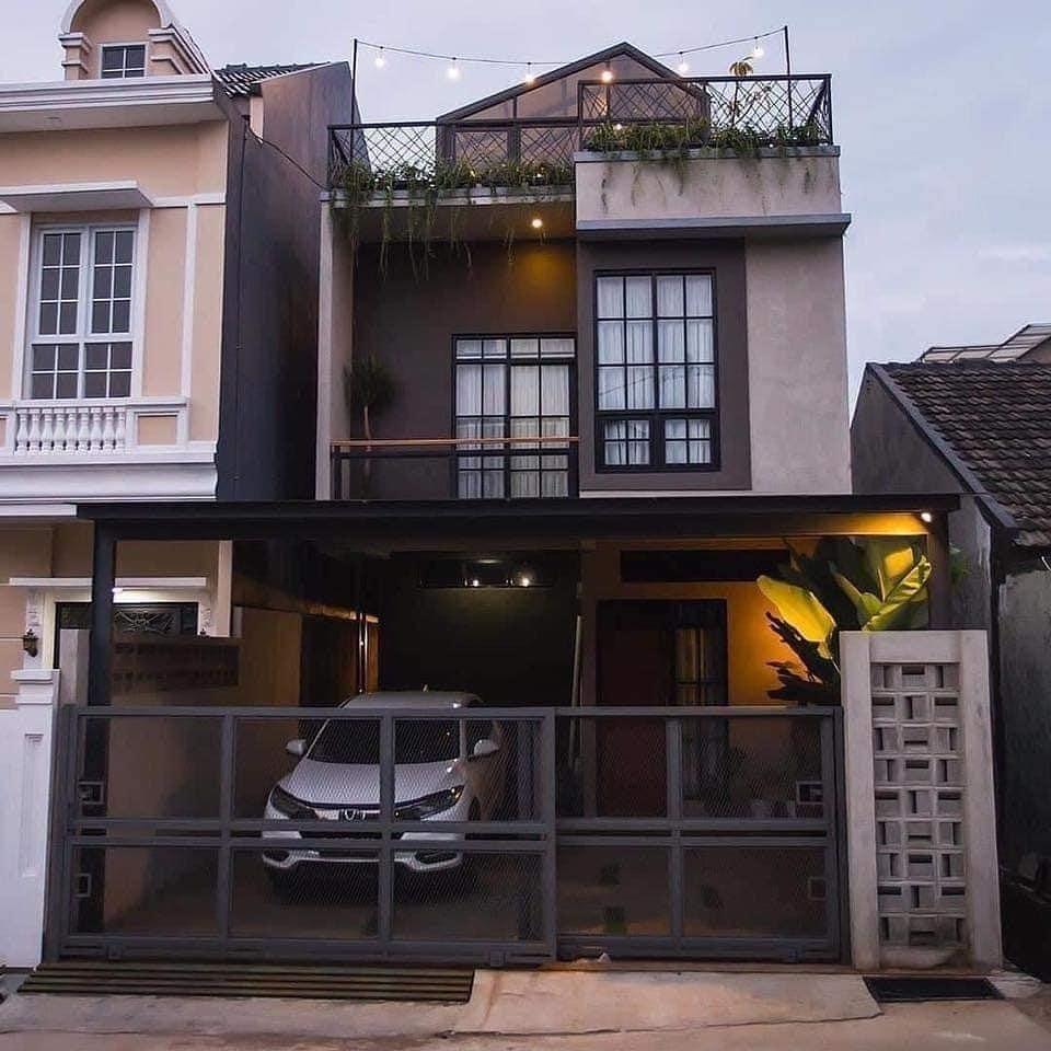 "3.297 Likes. 20 Comments - Malaysia Homie (@malaysiahomie) on Instagram: ""This terrace house has a ro…   Terrace house exterior. Narrow house ..."