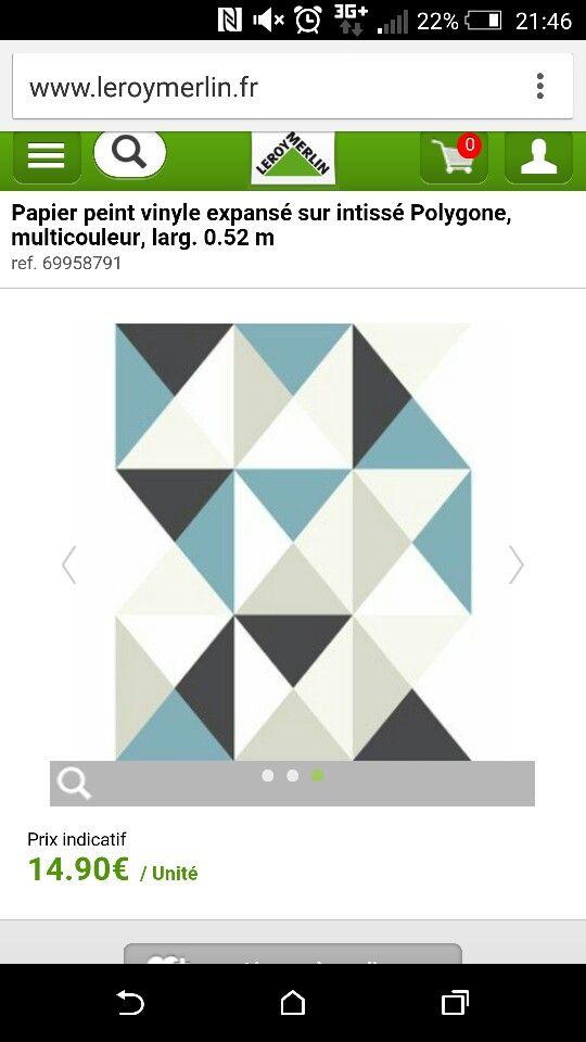 Papier peint polygone LEROY MERLIN