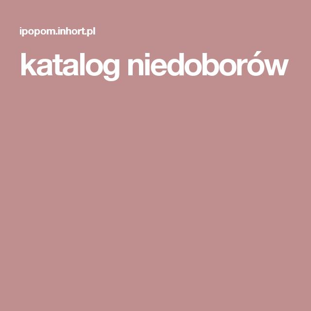 katalog niedoborów
