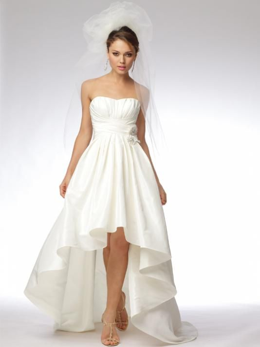 1da691b08924c Tatered Hem Wedding Gown | This dress from Davids Bridal is very similar to  the one from Oncewed-