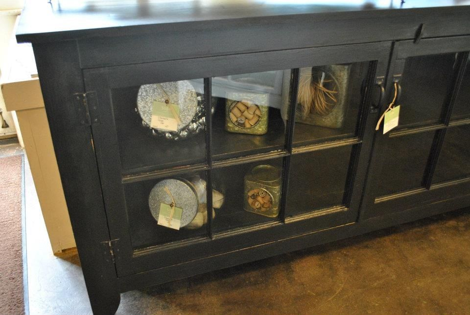 Black Window Pane Buffet For Dining Room
