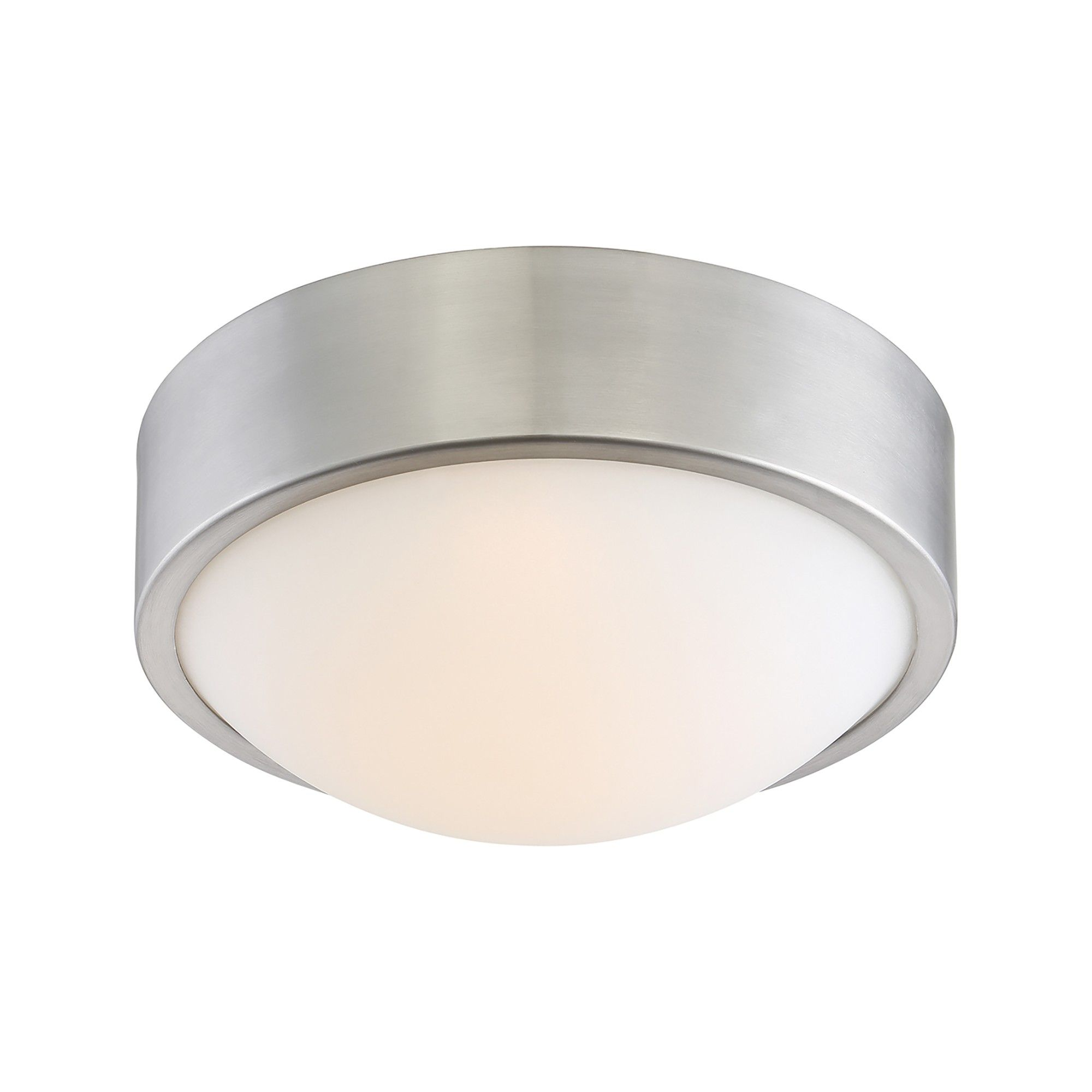 Aurora Lighting 1 Light Brushed Flush Mount Ceiling Lights