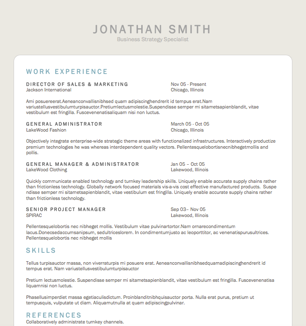 Free Resume Download Tablet  Microsoft Word Format  Resumes