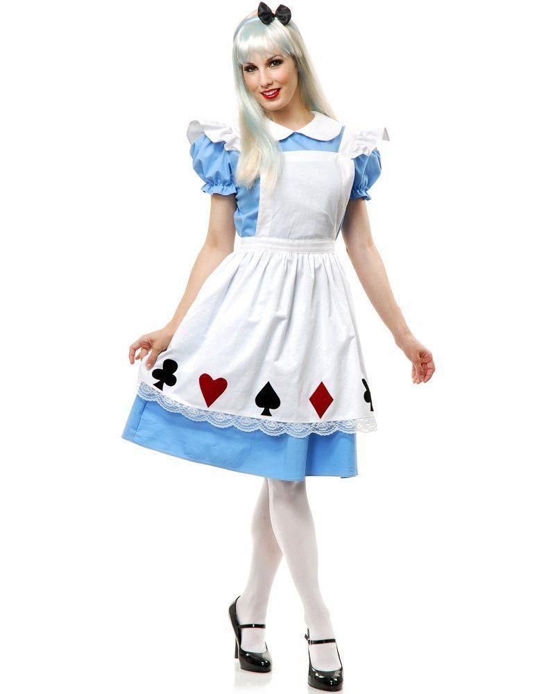 I92 Alice in Wonderland Ladies Disney Fancy Dress Party Card Halloween Costume