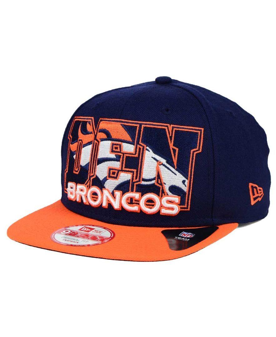07c00639fa9 New Era Denver Broncos Big City 9FIFTY Snapback Cap