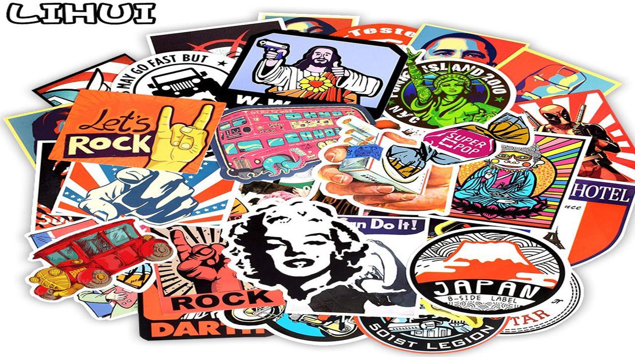 50 Pcs Retro Style Sticker Graffiti Travel Funny Jdm Stickers For Diy Sticker Sticker Graffiti Sticker Bomb Diy Stickers [ 720 x 1280 Pixel ]