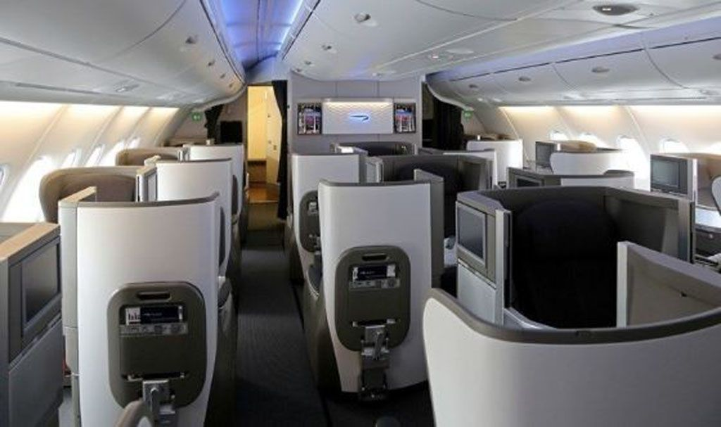 British Airways A380 business class seats London to