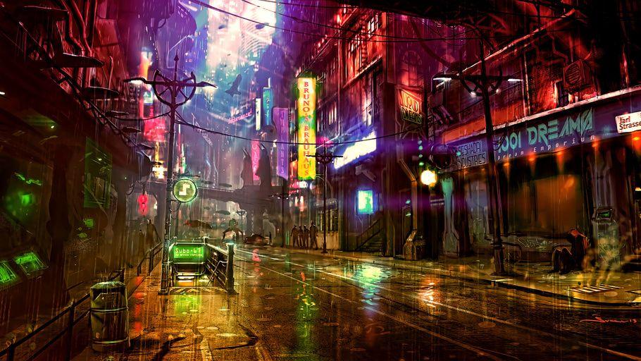 Cyberpunk Futuristic City Wallpaper Futuristic City City Wallpaper Pop Art Wallpaper