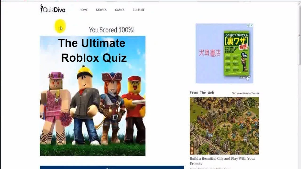 The Ultimate Roblox Quiz Answers QUIZDIVA 100% score