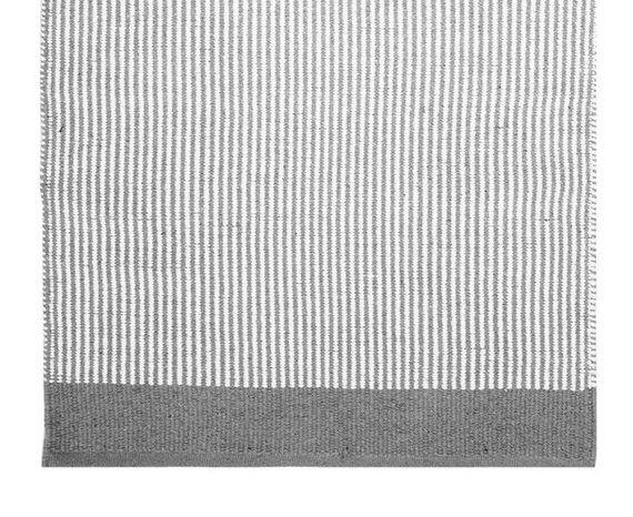 Grey and white striped floor runner, W70 L140cm   Floor ...