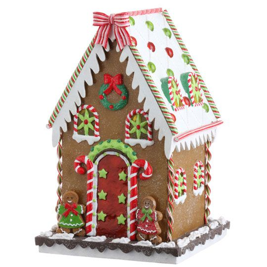 RAZ Cookie Confections 135inch Gingerbread House shelley b home and