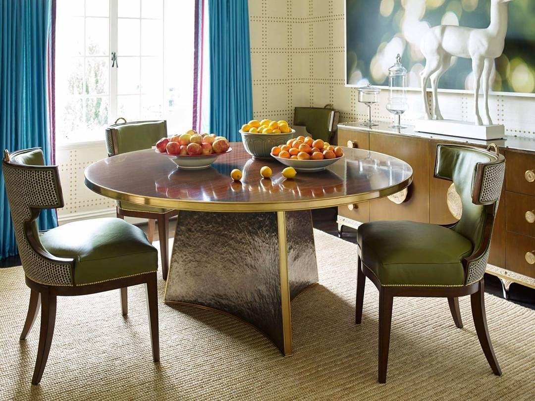 Turin Lane Round Table | Jeffrey Bilhuber For Henredon . . The Elegant  Turin Lane Dining