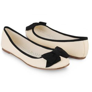 ballet flats with bow