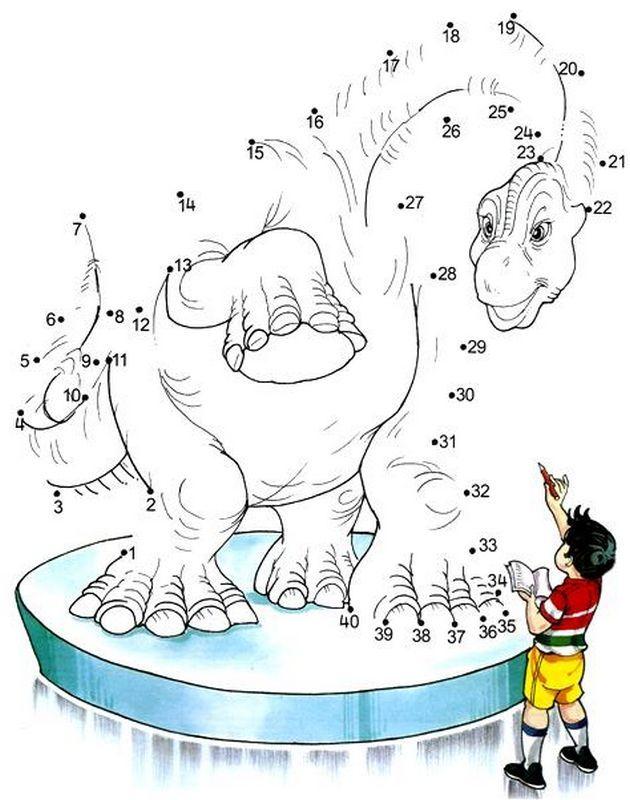 Un grand dinosaure … | Jeux coloriage, Dinosaure