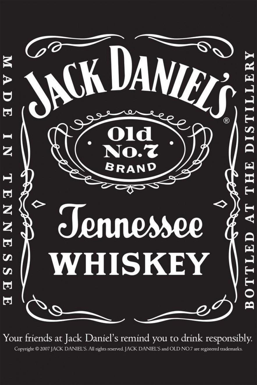 Blank Jack Daniels Label Template 1 Templates Example Templates Example Minuman Keras Desain Minuman