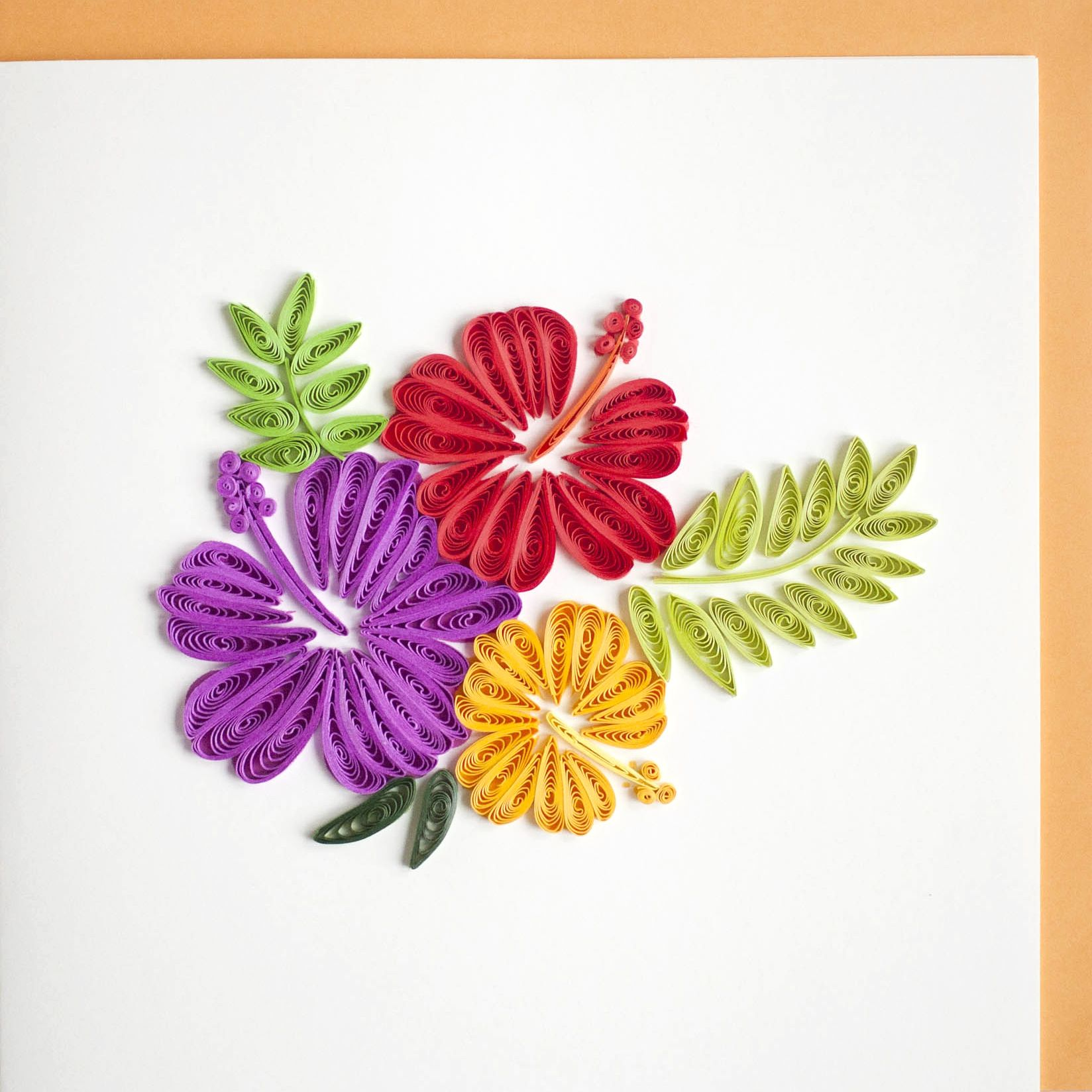 hibiscus flower  quilling images quilling work quilling