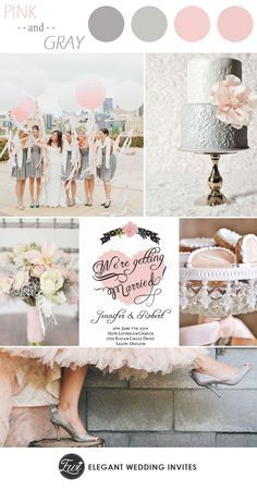 Pink And Gray Elegant Wedding Color Ideas Invitations Use Coupon Code Cvb To Get 10 Off Towards All The