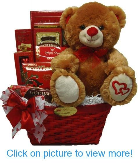 Delight Expressions™ Sweet Temptation Gourmet Food Gift Basket - A Valentine's Day Gift Idea! #Delight #Expressions™ #Sweet #Temptation #Gourmet #Food #Gift #Basket #Valentines #Day #Idea!