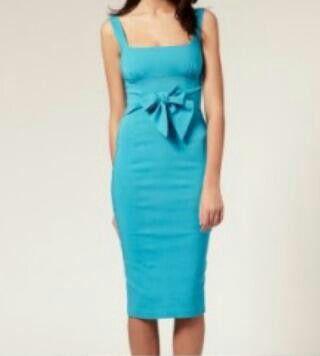 84fabde8f8108 Vestido color azul cielo de seda raso