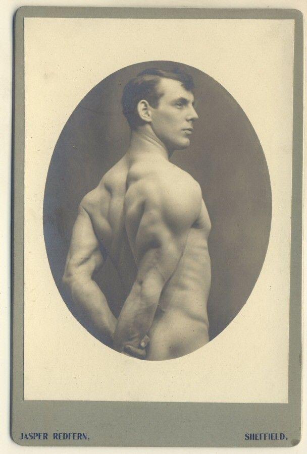 Studio portret male nude - Cabinet photograph by Jasper Redfern of Sheffield