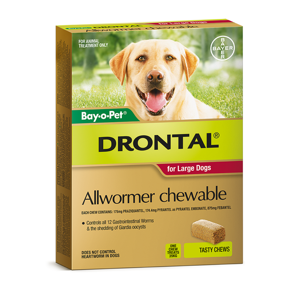 Drontal All Wormer Up To 35kg Chews For Dogs Animal Treatment Dogs Wormer