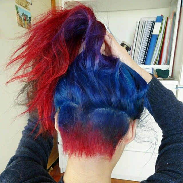 Shocking Blue Purple Haze And Vampire Red Hair Colors Ideas Hair Color Streaks Blonde Brown Hair Color Hair Color Pictures