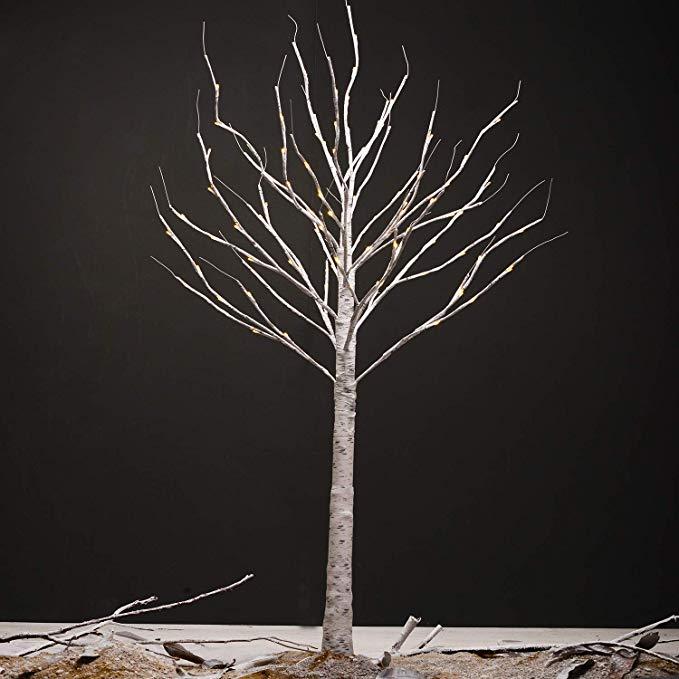Amazon Com Pop Belief Birch Lighted Tree 6 Feet Artificial