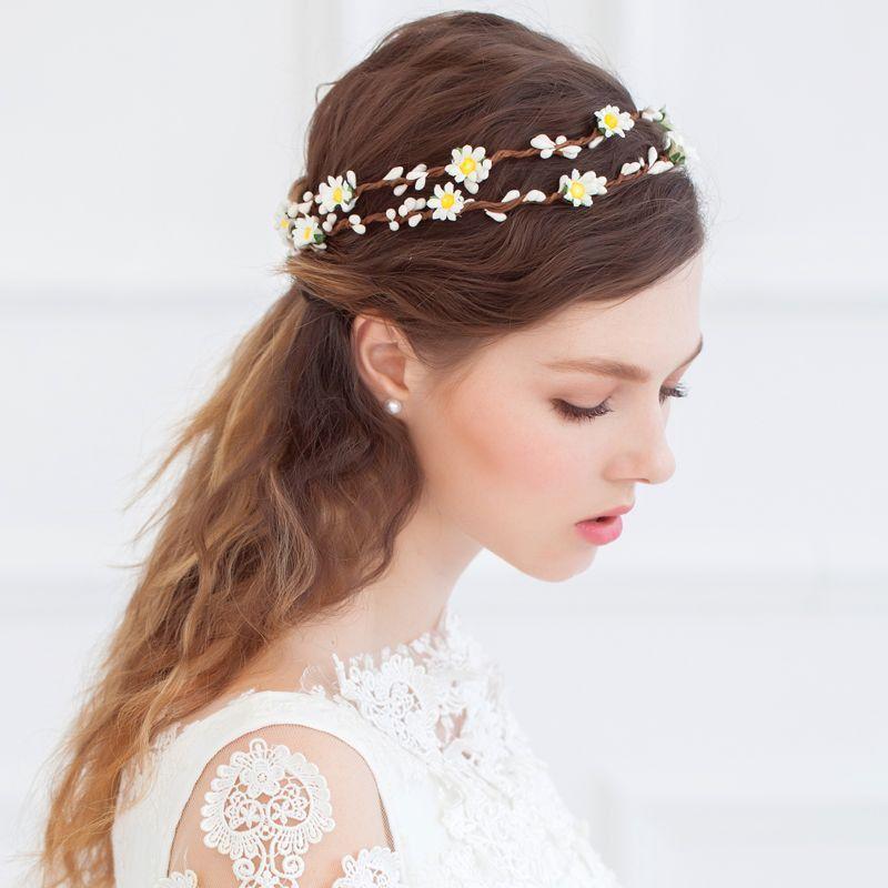花かんむり ヘッドドレス ウエディング 髪飾りヘアアクセサリー花冠 造花 イベント フェス 新婚旅行