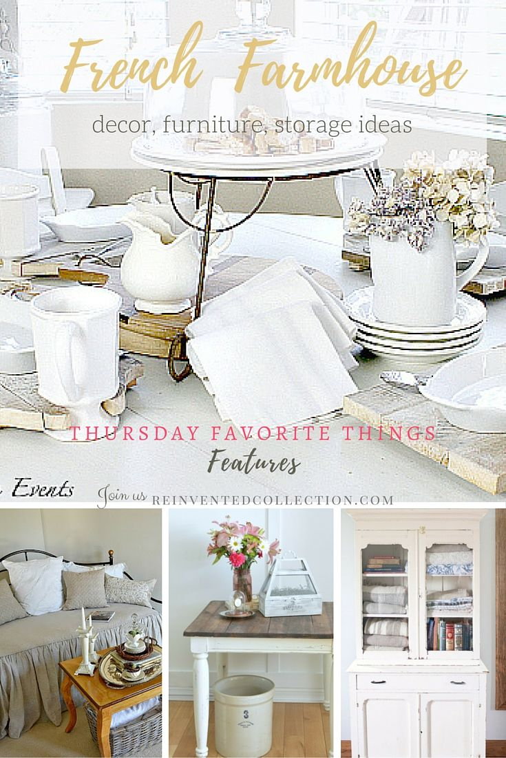 Neutral French Farmhouse Decor Ideas From Bloggers Joining Thursday Favorite Things Link Party Diy Serving Trays Storage