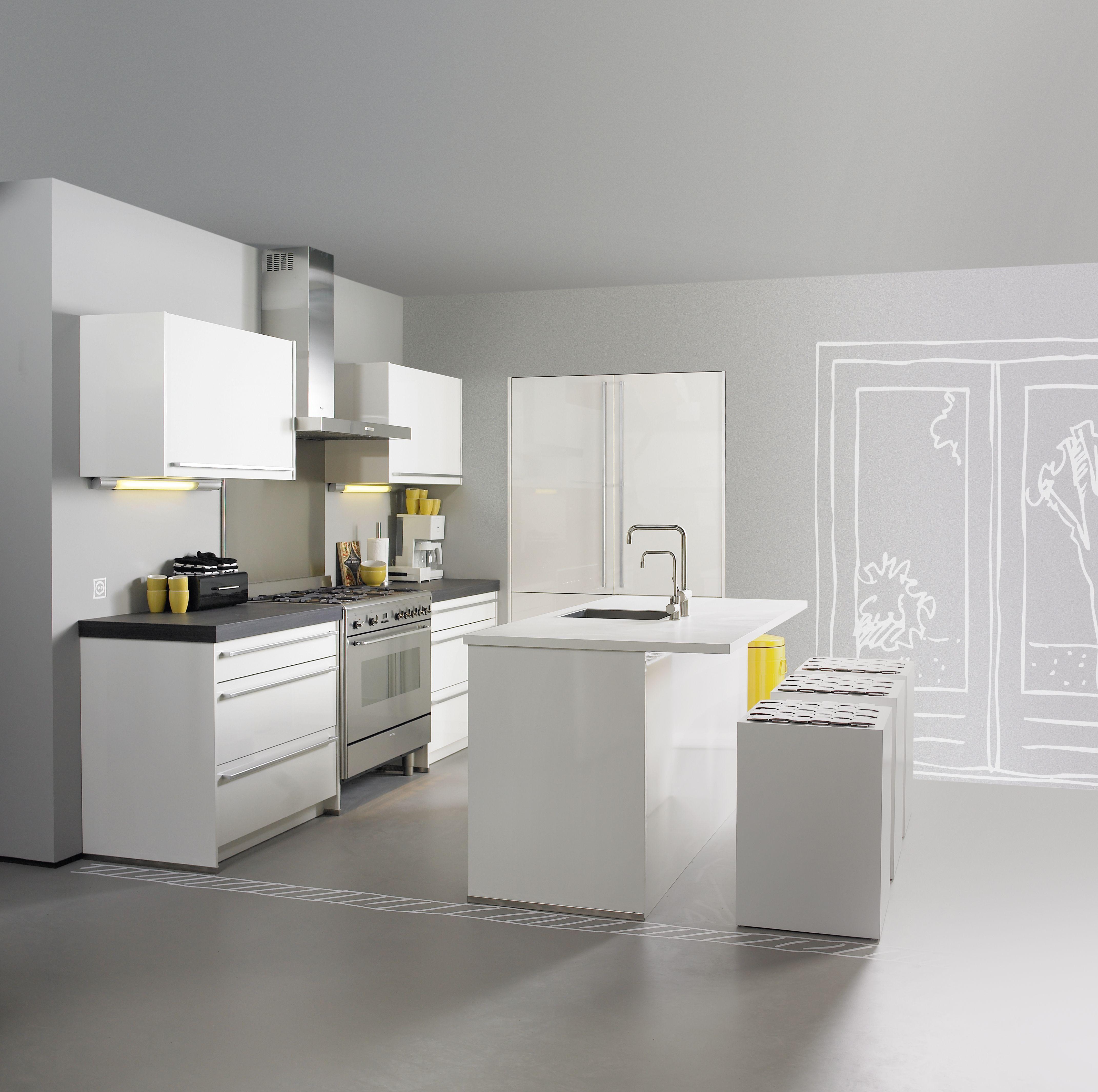 Keuken banks ruime eilandopstelling waarin luxe naadloos combineert met gemak met extra brede - Keuken met bank ...