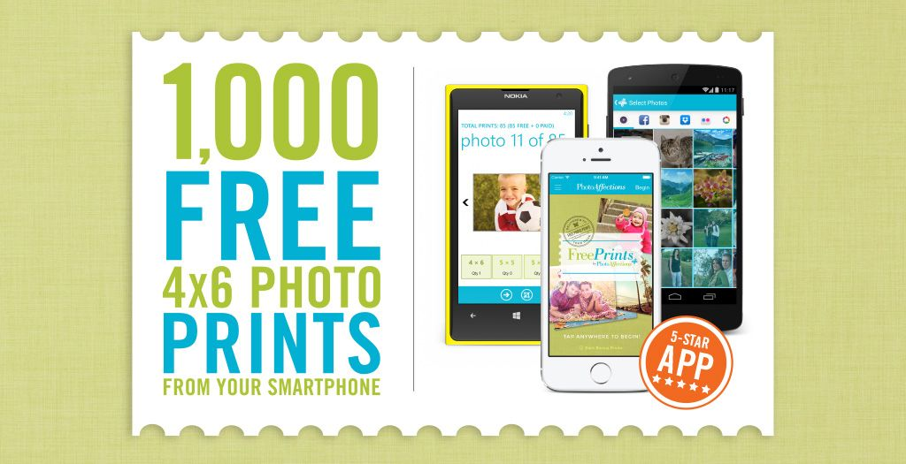 Print up to 1,000 4x6 Prints a Year FREE right from your smartphone ...
