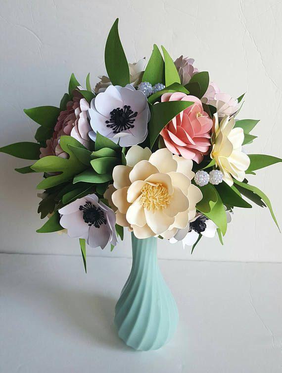 Paper Bouquet - Paper Flowers - Wedding Bouquet - Bridal Bouquet ...