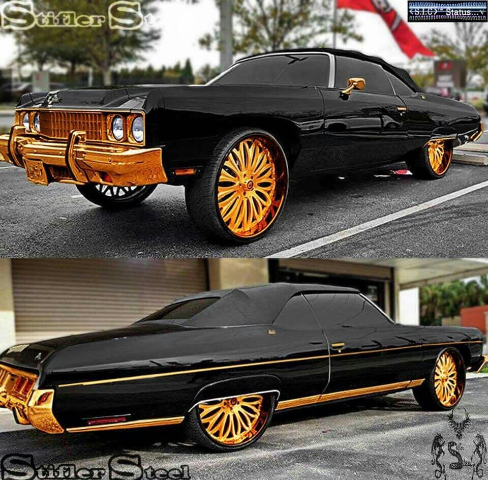 Black And Gold Whipgame Pinterest Gold Cars And Donk Cars